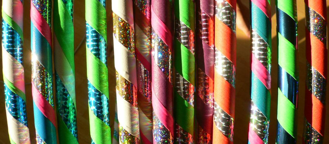 Ručně vyráběné obruče hula hoop